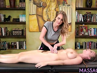 Angry ex wife tricked his lover into lesbian massage