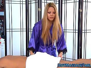 Asian masseuse sucking dick