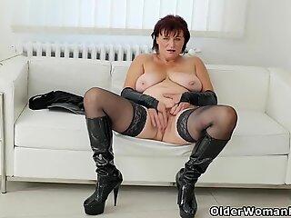 At 56 Danja's pussy still has a fair amount of mileage left