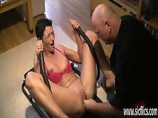 Fisting the wifes greedy loose pussy