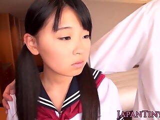 Asian petite schoolgirl fucked in tight pussy