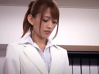 Crazy Japanese girl in Best Office, HD JAV scene