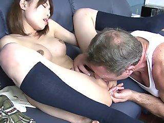 Japanese slut and her white dick
