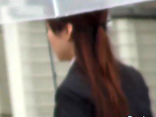 Japanese lady urinating