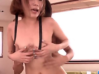 Young maid, Mei Mizuhara, sensual sex with the master