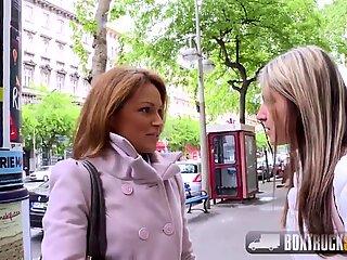 Hot Szilvia Lauren surprised by the lesbian model agent