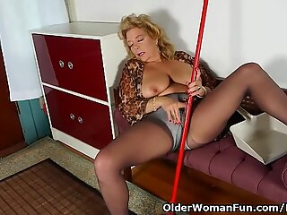 mansion cleaning inflames mom's dream for orgasm