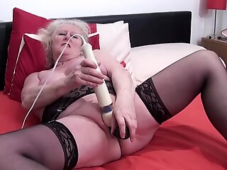 My fav UK oma, ugly, fat, light hairy, horny, squirting
