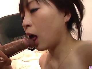 Nozomi Hazuki ends masive porn play with cum on face