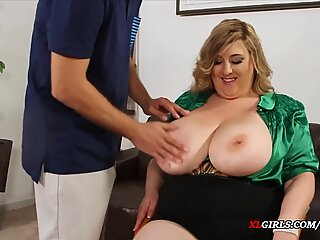 The Office Girl with a Big Fat Ass and some Natural Boobs